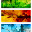 Stock Photo: Three abstract horizontal banners