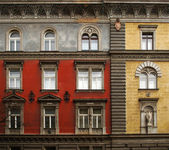 Facade of old building — Stock Photo