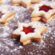 Royalty-Free Stock Photo: Jam Cookies christmas star