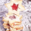 Jam Cookies christmas star - Stock Photo
