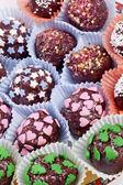Chocolote pralines mix — Stock Photo