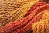 温暖的橙色羊毛围巾 — 图库照片