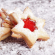 Jam Cookies christmas star — Stock Photo #12074440