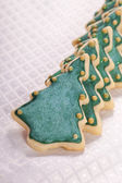 Christmas tree cookies — Stock Photo
