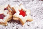 Jam Cookies christmas star — Stock Photo