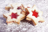 Jam Cookies christmas star — Stock Photo