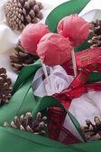 Christmas cakepops — Stock Photo