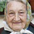 Portrait of an old woman — Stock Photo