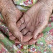 Close of old womans hands — Stock Photo #11146394