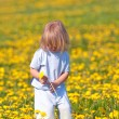 Boy with a dandelion — Stock Photo