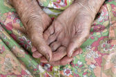 Close of old womans hands — Stock Photo