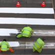 Workers painting crosswalk — Stock Photo #11155658