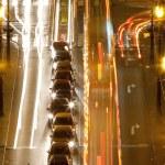 Prague -traffic on bridge — Stock Photo