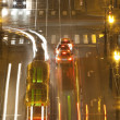 Prague -traffic on bridge - Stock Photo