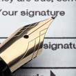 Pen and tax form — Stock Photo #11158320