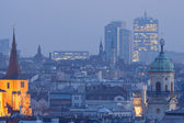 Prague towers at dusk — Stock Photo
