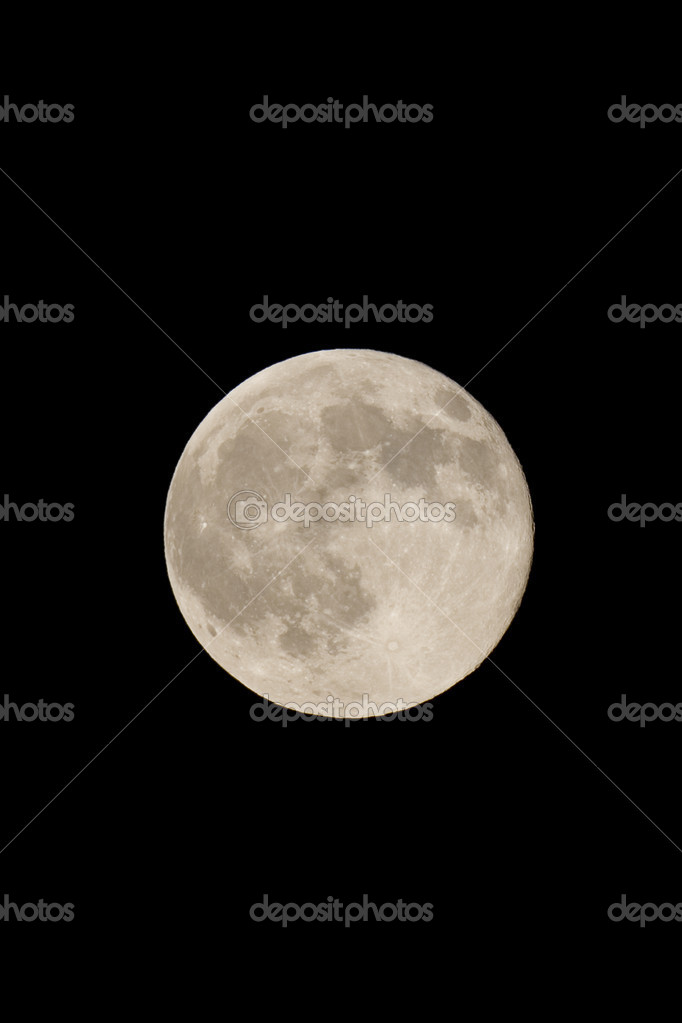 Full moon against dark sky at night — Stock Photo #11158207
