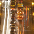 Prague -traffic on bridge — Stock Photo