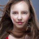 Young girl posing as a model — Stock Photo
