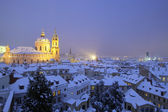 Prague in winter — Stok fotoğraf
