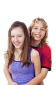 Boy and girl smiling — Stock Photo