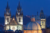Prague - spires of the old town — Stock Photo