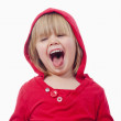 Little girl laughing — Stock Photo