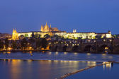 Prague at dusk — Stock Photo