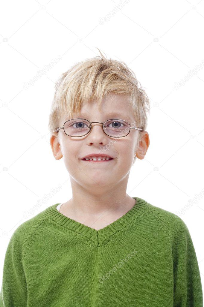 戴眼镜的男孩 — 图库照片
