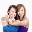 Girls showing thumbs uo — Stock Photo #11335492