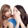 Woman gossiping — Stock Photo