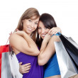 Girls with shopping bags — Stock Photo #11335577
