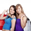 Girls with shopping bags - Photo