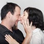 coppia baci — Foto Stock