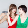 Royalty-Free Stock Photo: Girls with a gun