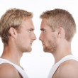 Portrait of twin brothers — Stock Photo
