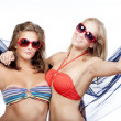 Two happy young women — Stock Photo #11337716