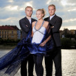 Beautiful woman and her bodyguards - Stock fotografie