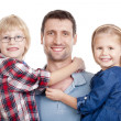 Father and his two children — Stock Photo #11338569