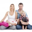 Portrait of a family — Stock Photo