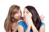 Mulher fofocando — Foto Stock