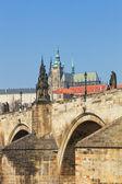 Prague, charles bridge — Stock Photo