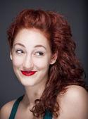 Dziewczyna z rude włosy — Zdjęcie stockowe