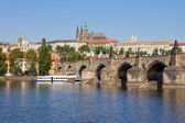 Prague - charles bridge — Stock Photo