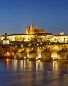 Prague at dusk — Stock Photo