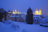 Hradcany castle in winter — Stock Photo