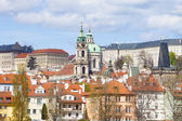 Prague - st. nicholas church — Stock Photo