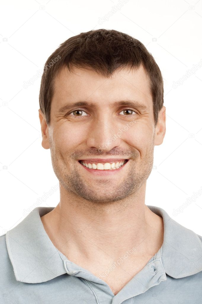 Portrait of a man smiling - isolated on white — Stock Photo #11338859