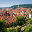 Prague - st. nicolas church and rooftops of mala strana — Stockfoto