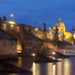 Charles bridge, towers of the old town — Stock Photo